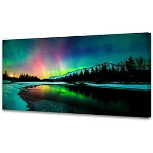 Aurora scenery Painting on Canvas | Wall Painting for Bedroom