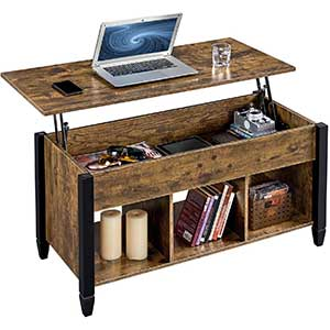 Yaheetech Lift Top Coffee Table | Rustic | Hidden Compartment